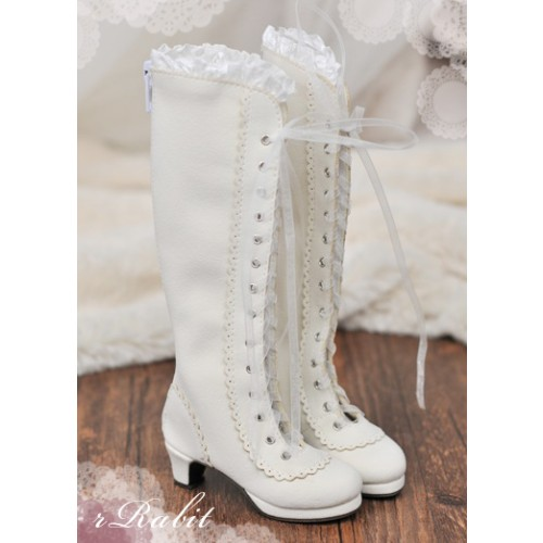 1/3 SD10/13 - LG002 Carving long boot - Creamy White