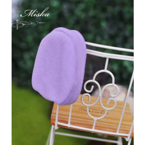 Miska - 1/3 & 1/4 Beret Hat - Puple