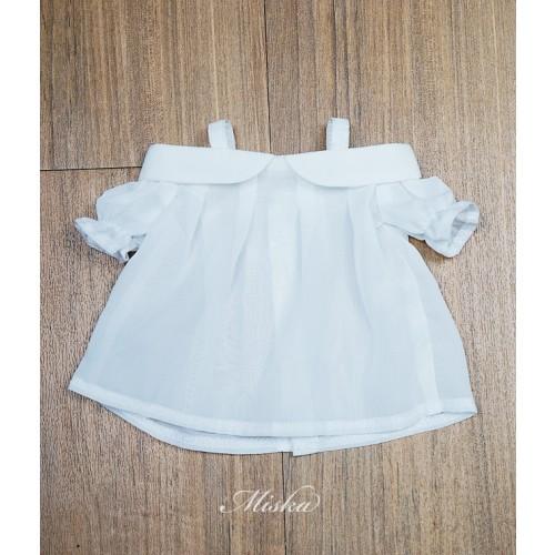Miska+Lady Blouse MSK028 001 (White Chiffon)