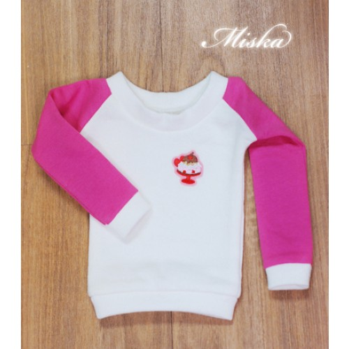 MISKA*1/3 Sweet Badge Sweatshirt  - MSK030 004