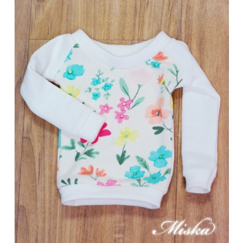 MISKA*1/3 Sweet Badge Sweatshirt  - MSK030 010