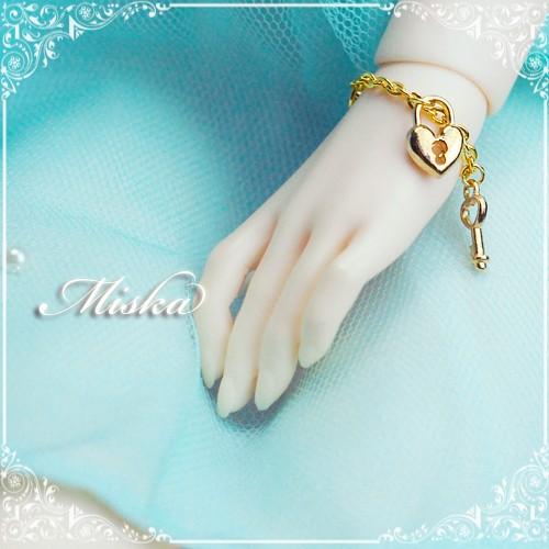 Miska ♡ 1/3 Bracelets - MSK-AC-150706 (Key & lock)