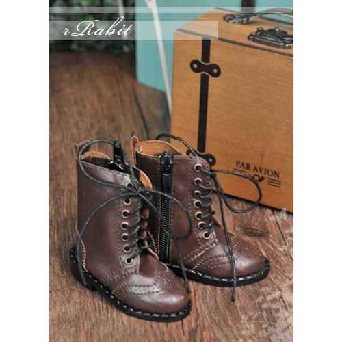 1/4 MSD MDD Rosie Holiday Antique Boots - RHL003 Chocolate