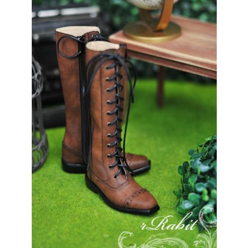 SD13&17 Boy - Cap-toe long boots - [RSH003] Dusty Red