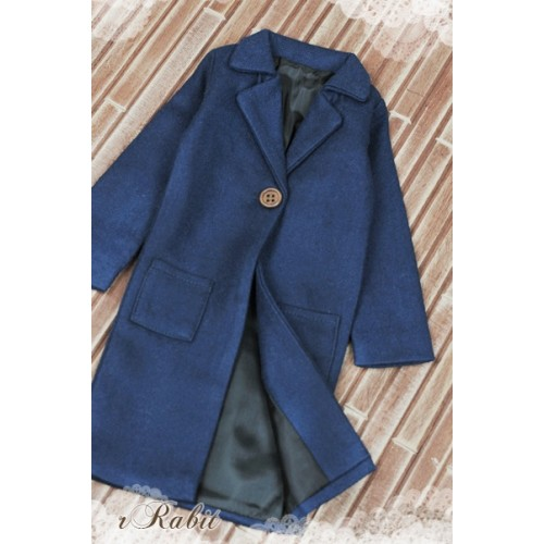 1/3 *Flannel Long Coat* SH003 1705 (Deep Blue)
