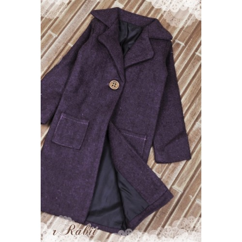 1/3 *Flannel Long Coat* SH003 1708 (Royal Purple)