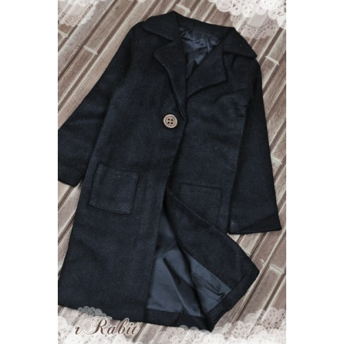 1/3 *Flannel Long Coat* SH003 1709 (Black)