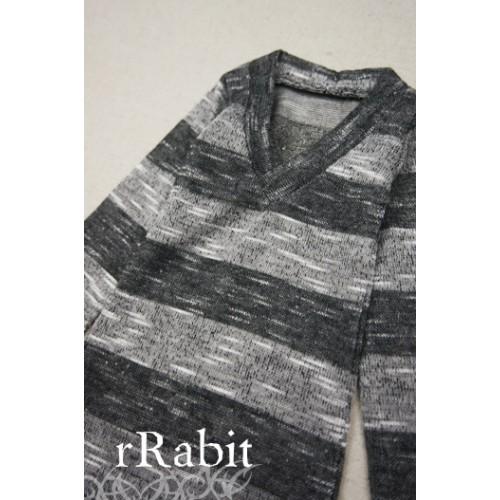 1/3 *L/S Deep V T-shirt* SH008 1609