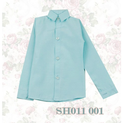 1/3 * Oxford Plain L/S Shirt - SH011 001 Baby Blue