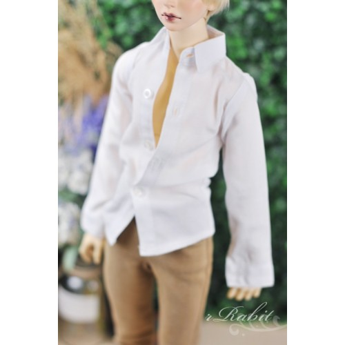 70cm up+ * Oxford Plain L/S Shirt - SH011 003 White