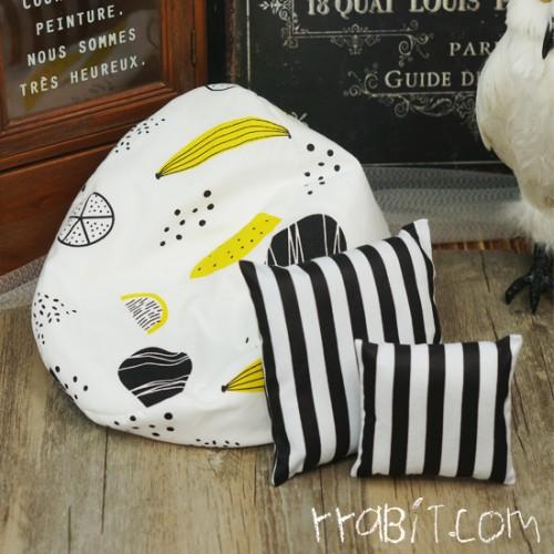 All size ★ Beanbag Sofa - Furit Draw +Cushion