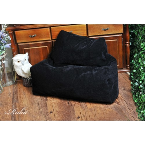 [Limited]All size ★ 2Seats Villus Sofa - Black