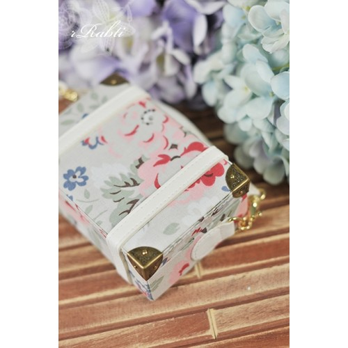 1/3 & 1/4 Suitcase -  FloralSpring X White leather
