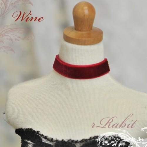 1/3 - Velvet Neckband - VN09 Wine