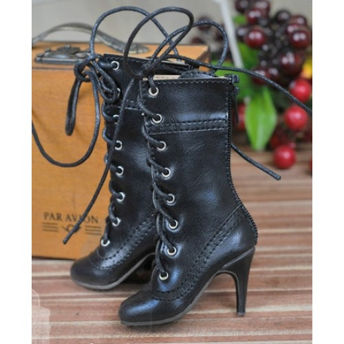 1/4 - MSD/MDD/MiniFee/AngelPhillia - Antique high heels pumps boot BLS008 - Black