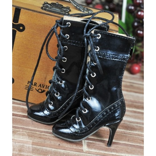 1/4 - MSD/MDD/MiniFee/AngelPhillia - Antique high heels pumps boot BLS008 - Shine Black