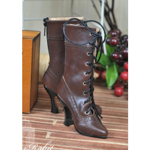 1/3 Girls - SD16/13/10/ DD fit - Antique high heels pumps boot BLS008 - Chocolate