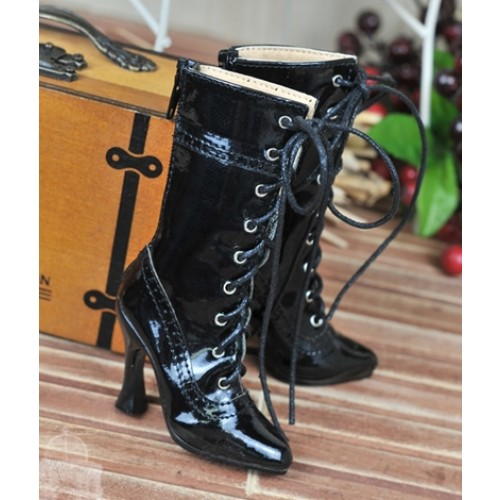 1/3 Girls - SD16/13/10/ DD fit - Antique high heels pumps boot BLS008 - Shine Black