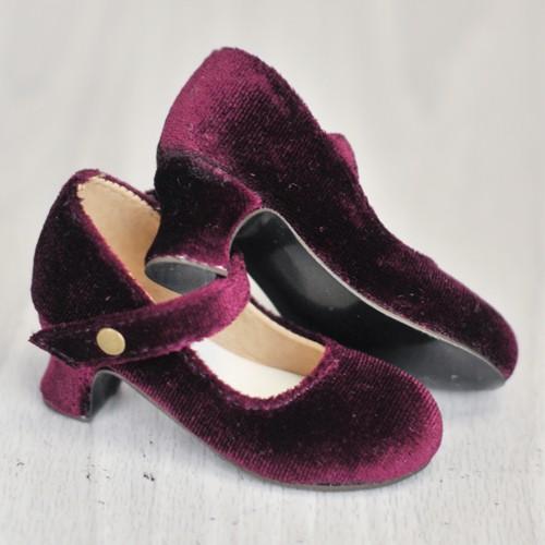 1/4 MSD Girl Velvet Wine Glass Heels  BLS006 Rasberry