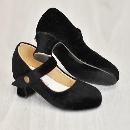 [Pre May] 1/4 MSD Girl Velvet Wine Glass Heels  [BLS006] Black