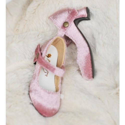 1/4 MSD Girl Velvet Wine Glass Heels  [BLS006] Pink