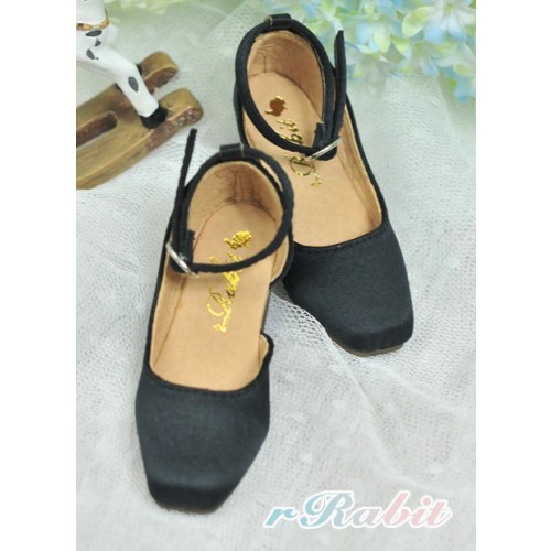 1/4 MSD - BLS007 -  Black - Square Mary Jane shoes