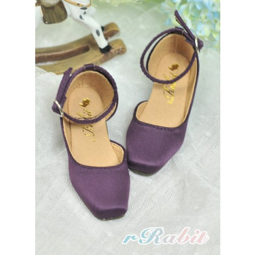 SD10/13 Girl BLS007 -  Royal Purpel - Square Mary Jane shoes