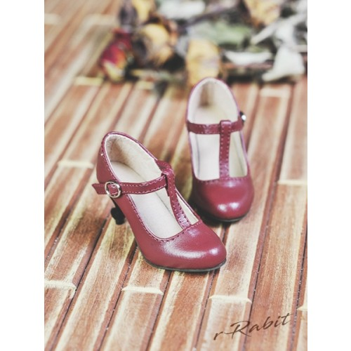 1/3Girls Highheels/DD T-straps high heels [BLS009] - Cherry