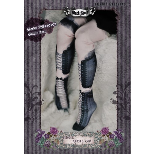 1/3 ♠ Black Sheep ♠  Socks BS140102 Gothic Lace