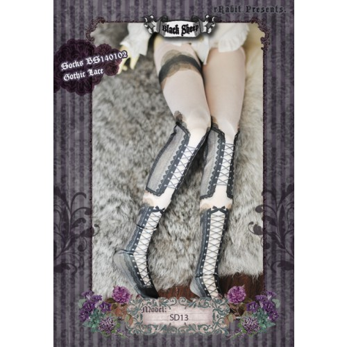 ♠ Black Sheep ♠  Socks BS140102 Gothic Lace (Re-size)
