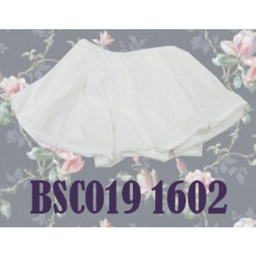 1/4 Velvet Skirt - BSC019 1602 (White)
