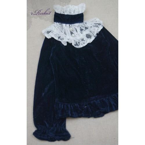 1/3 Velvet lace top - BSC020 1605  (Velvet Blue with White lace)