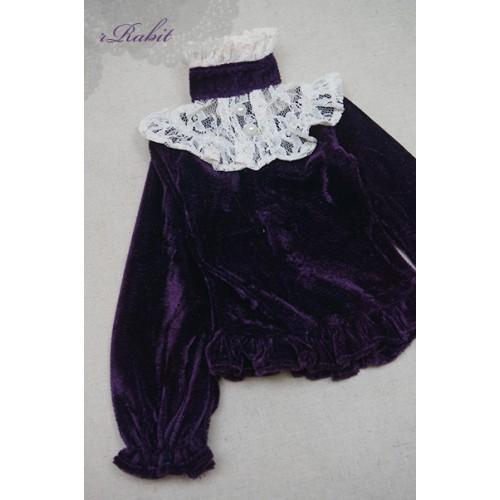 1/4 Velvet lace top - BSC020 1607 (Velvet Violet with Beige lace)