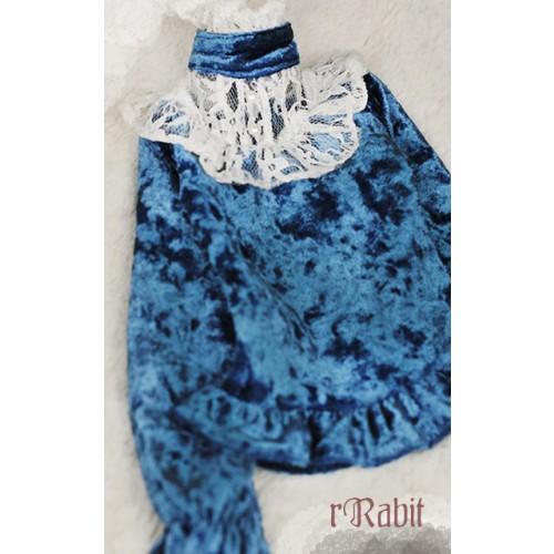 1/4 Velvet lace top - BSC020 1702 (Velvet Demin with Beige lace)