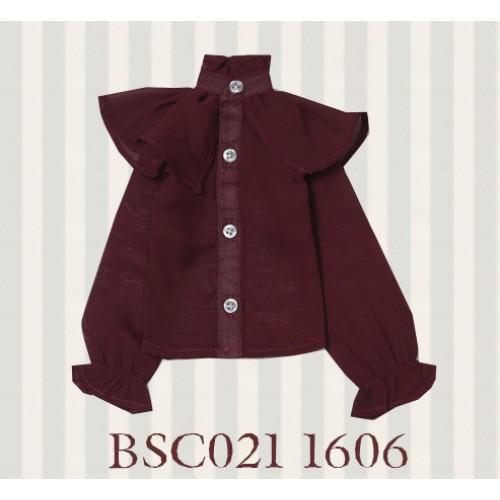 1/3 SD10/16/DD size 1/3 Girl & Slim Boy*Alice Shirt*BSC021 1606 (Wine)