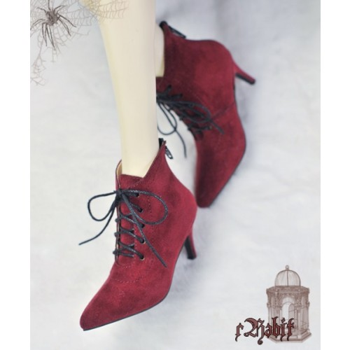 SD17/IP's Girl + Pointed Toe Ankle Boots [Coven Three] - Berry Velvet