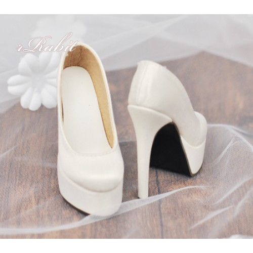 [Pre]1/4 & Angel Philia [Coven Two]+[Creamy White (Satin)] High heel Platform pumps shoes