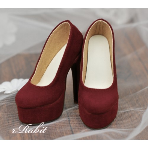 [Pre]1/4 & Angel Philia [Coven Two]+[Suede Wine] High heel Platform pumps shoes