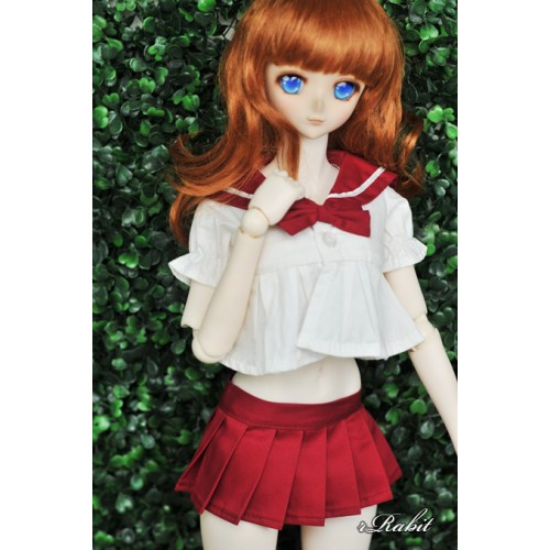 1/4 MSD MDD Holiday Angel Philia - Sailor Cute Dress Set - CP010 007 (Red)