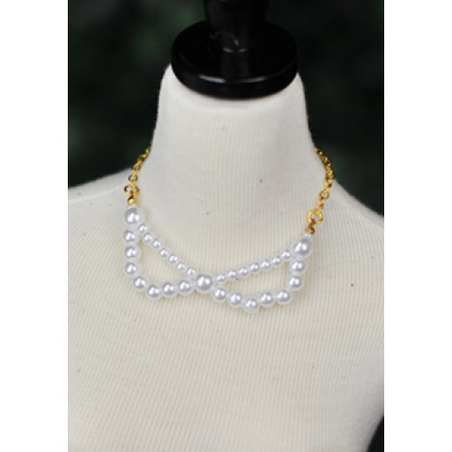 1/3  * Stone Necklace *CPA141005 (White)