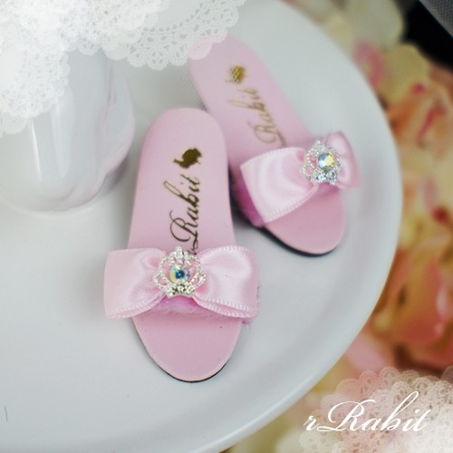 1/4 MSD MDD AngelPhilia- Crown & Ribbon high-heeled Sandals Plush shoes - CPS001 Pink