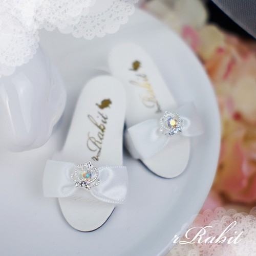 1/4 MSD MDD AngelPhilia- Crown & Ribbon high-heeled Sandals Plush shoes - CPS001 White