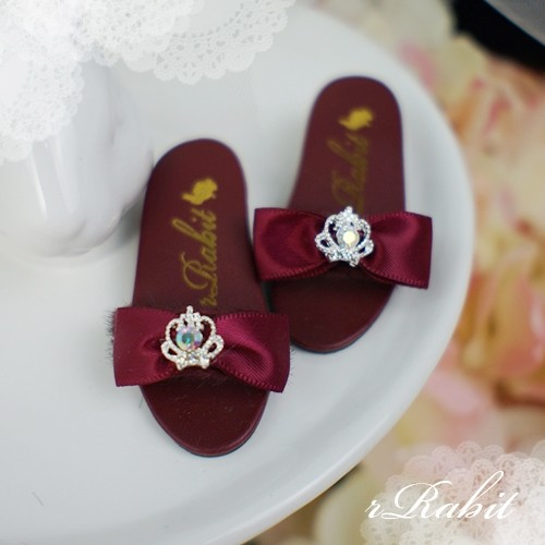 1/4 MSD MDD AngelPhilia- Crown & Ribbon high-heeled Sandals Plush shoes - CPS001 Wine