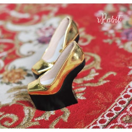 1/3 Girls Highheels /DD [Coven Four] Curve Platform High Heels - Space Gold (Basic Ver.)