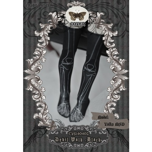 ♣COVEN♣ Socks CVS140402	Devil Walk ☆ Black