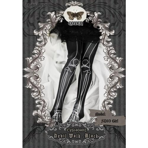 1/3♣COVEN♣ Socks CVS140402 Devil Walk ☆ Black