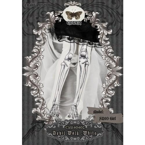 1/3♣COVEN♣ Socks CVS140402 Devil Walk ☆ White