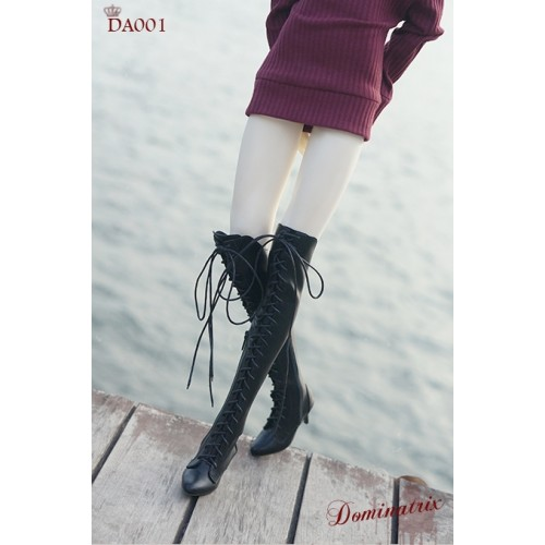 IP EID Girl/ SD17 Boy's size Boot - Dominatrix - Long boots - DA001 Black