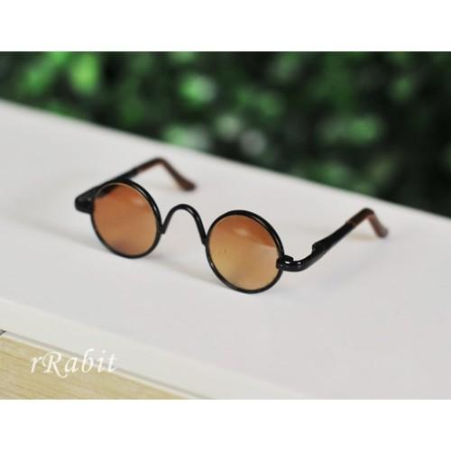 1/4 Sun Glasses - Circle Shape - Tea