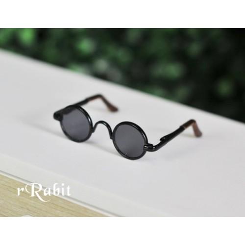 1/4 Sun Glasses - Circle Shape - Black